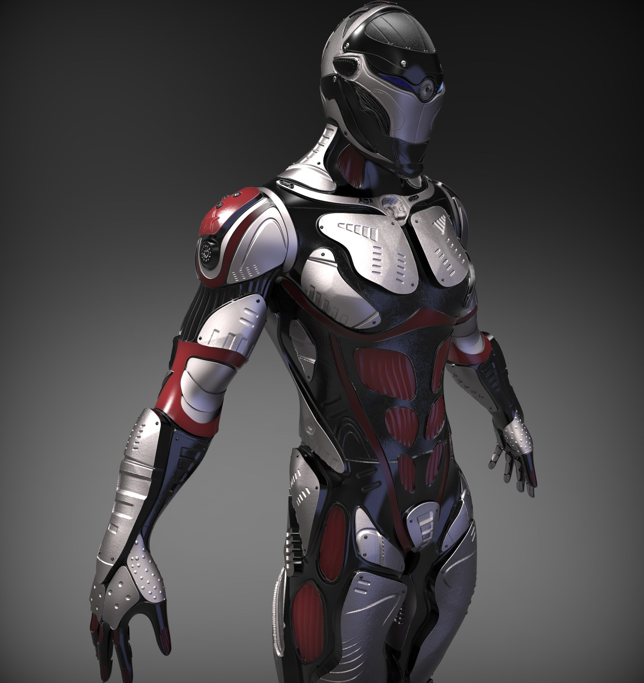Sci fi character 3d model obj ztl for Mobel 3d download