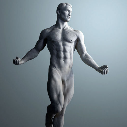 3d Model Anatomical Sculpture Of A Man Cgtrader