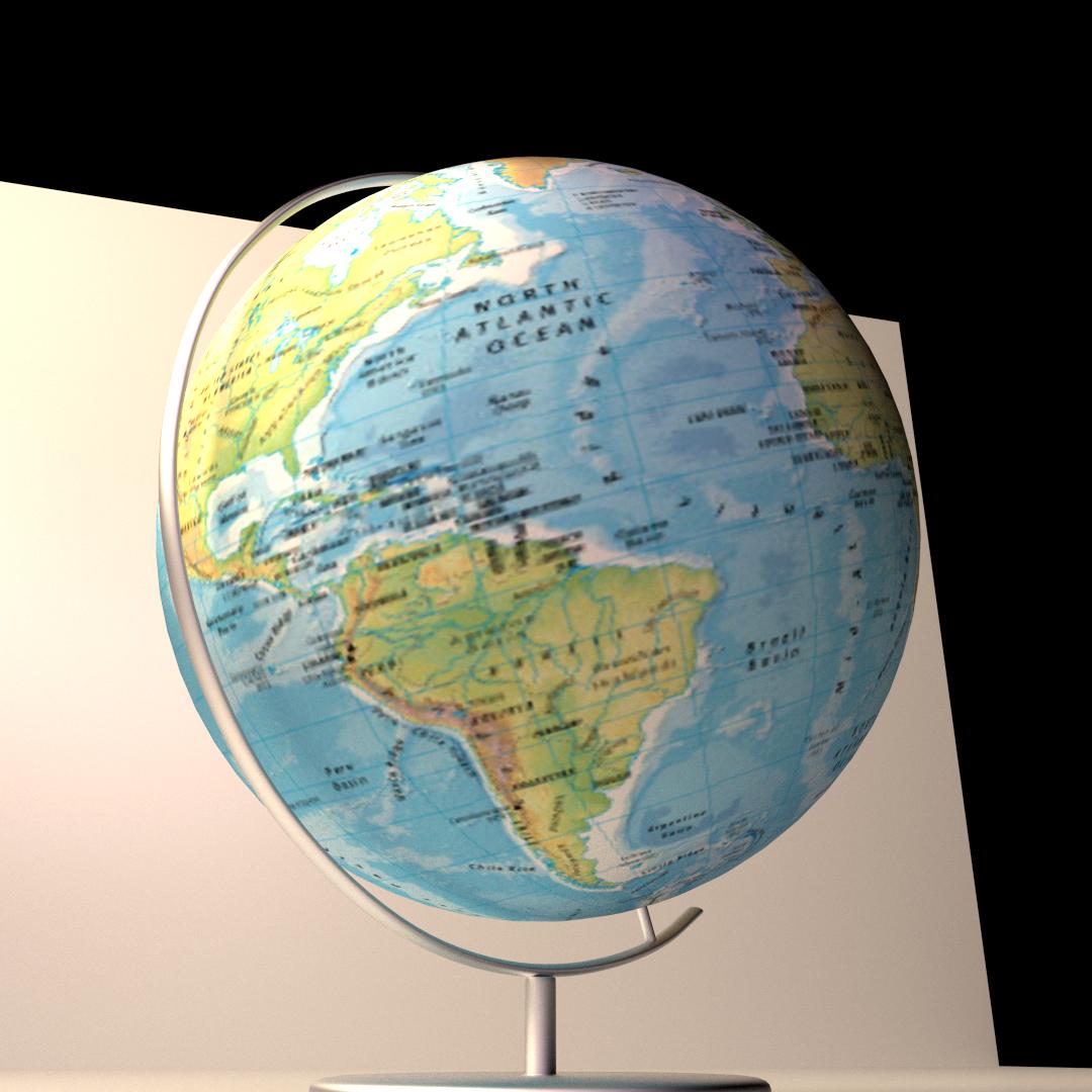 Globe 3d model cgtrader globe 3d model fbx blend dae 3 gumiabroncs Image collections