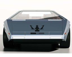 1971 Maserati Boomerang Concept Car 3D Model