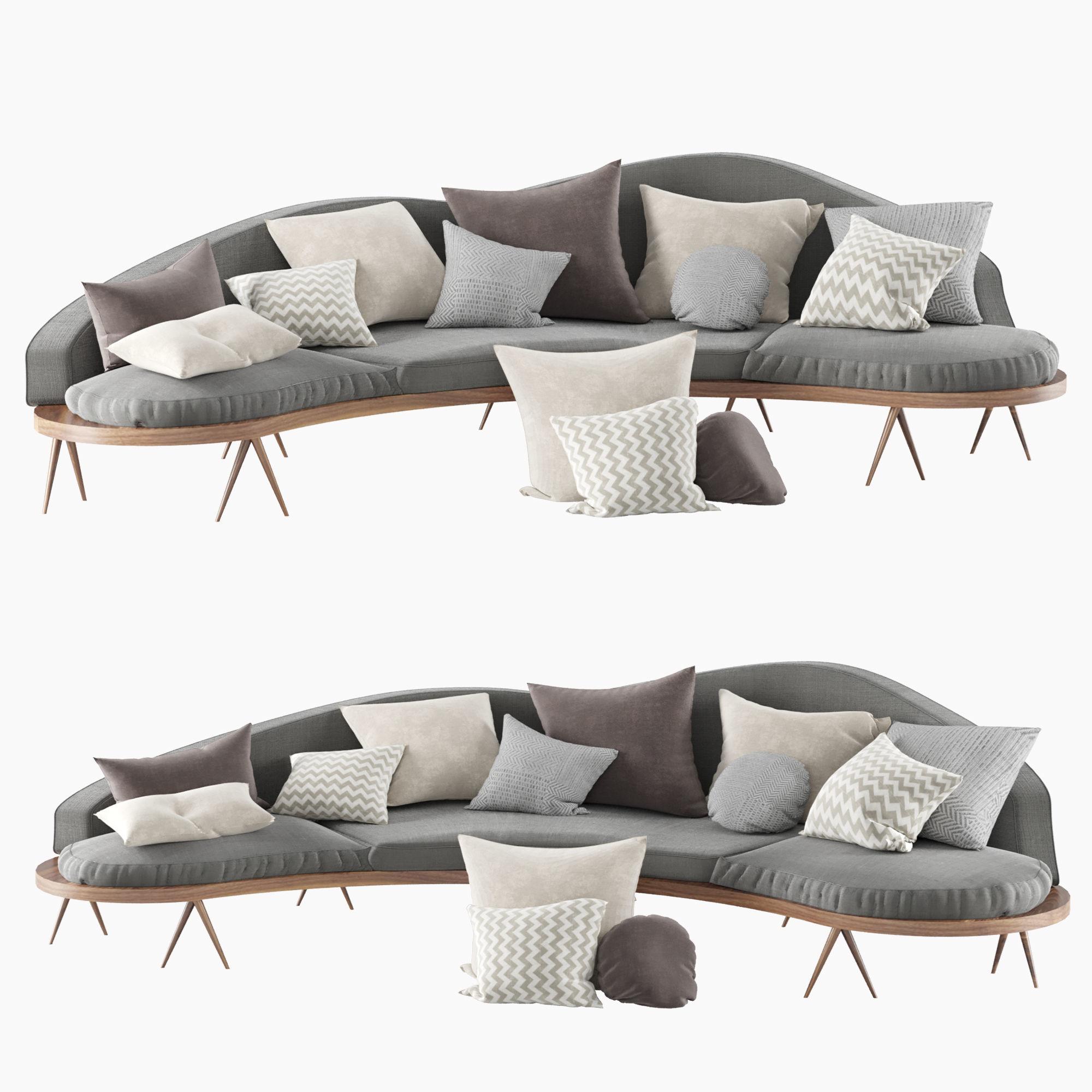 Suit sofa set 3D model | CGTrader