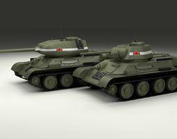 3D model T-34 76 85 Pack
