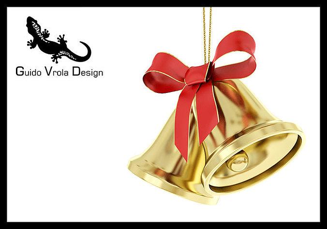 christmas bells 3d model obj 3ds fbx blend mtl 1