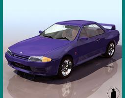 SKYLINE GTR CAR 3D Model