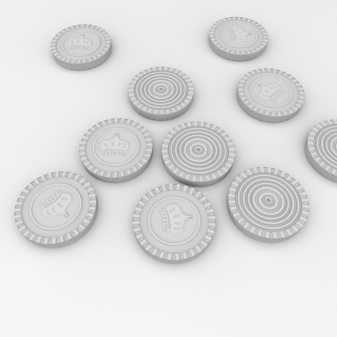 Checkers Pieces 3D Model .fbx .blend .dae - CGTrader.com