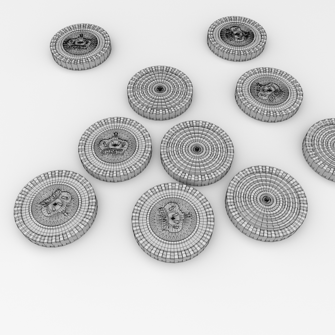 Checkers Pieces 3D Model FBX BLEND DAE - CGTrader.com