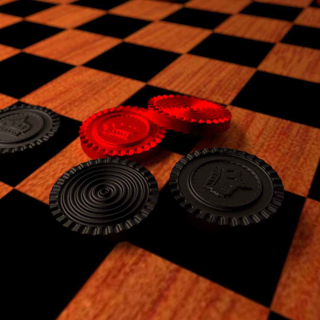 Checkers Board Game 3d Model Blend Cgtrader Com