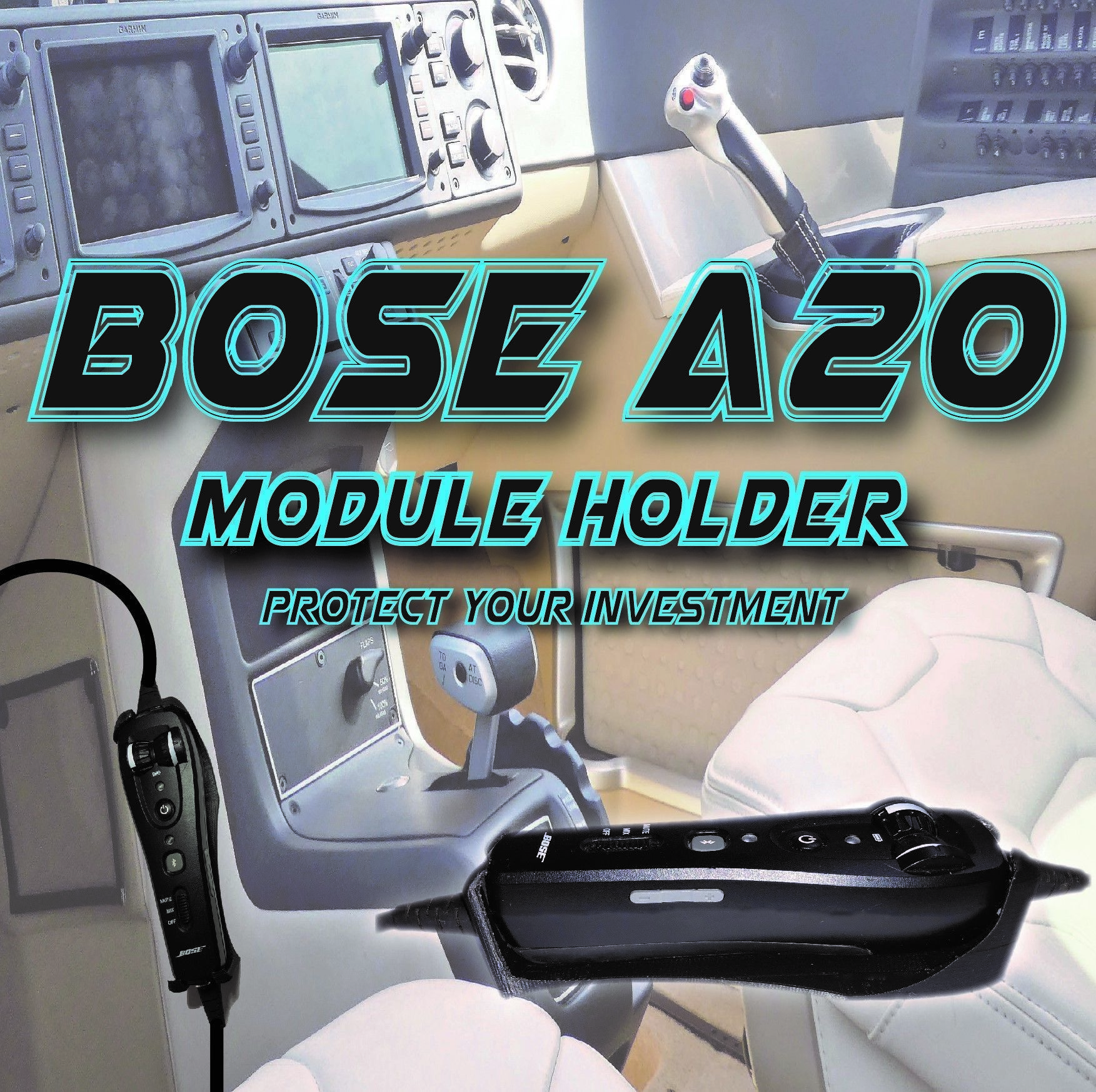 Bose A20 aviation headset Clip in holder