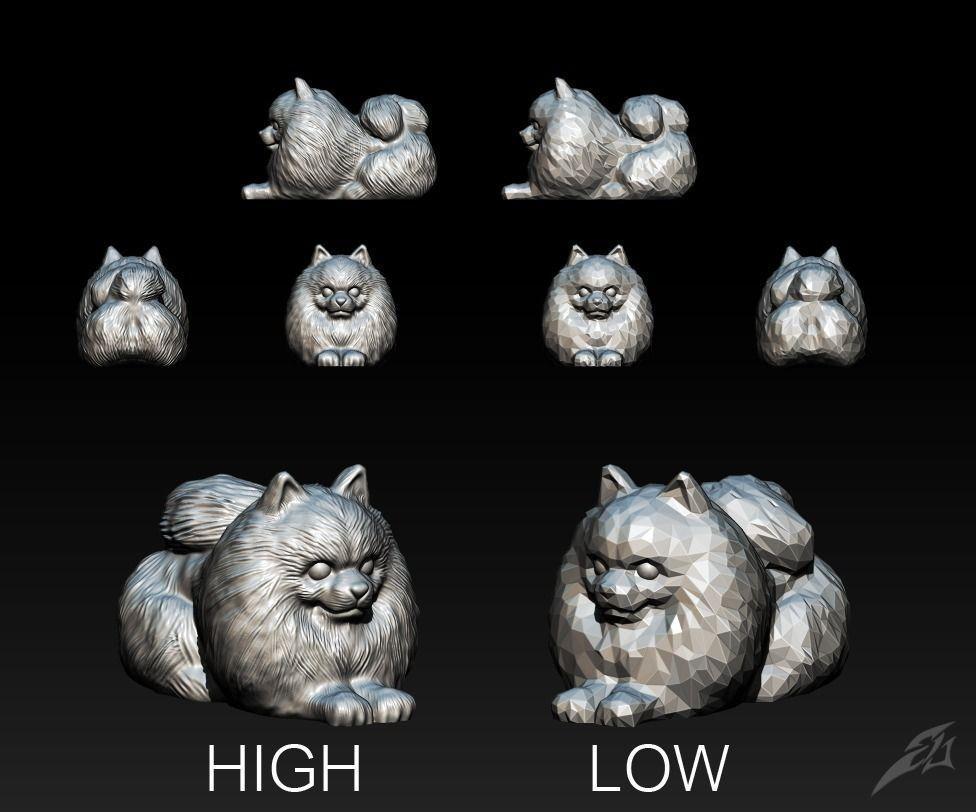Préférence Cute Dog Pomeranian for 3D Print STL | CGTrader KP69