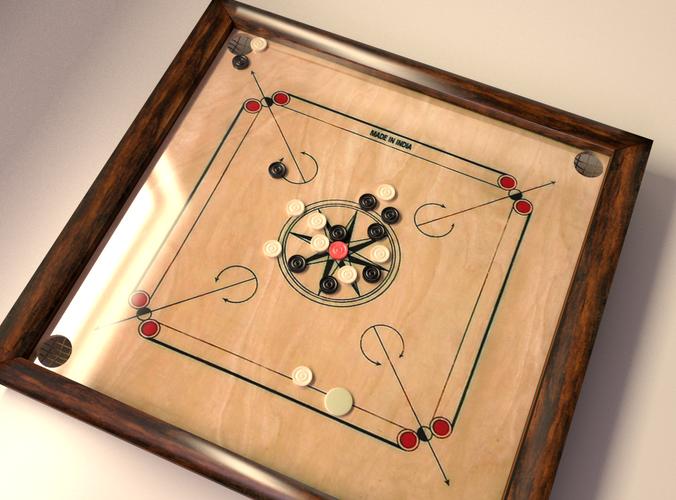 Carrom Board Game3D model