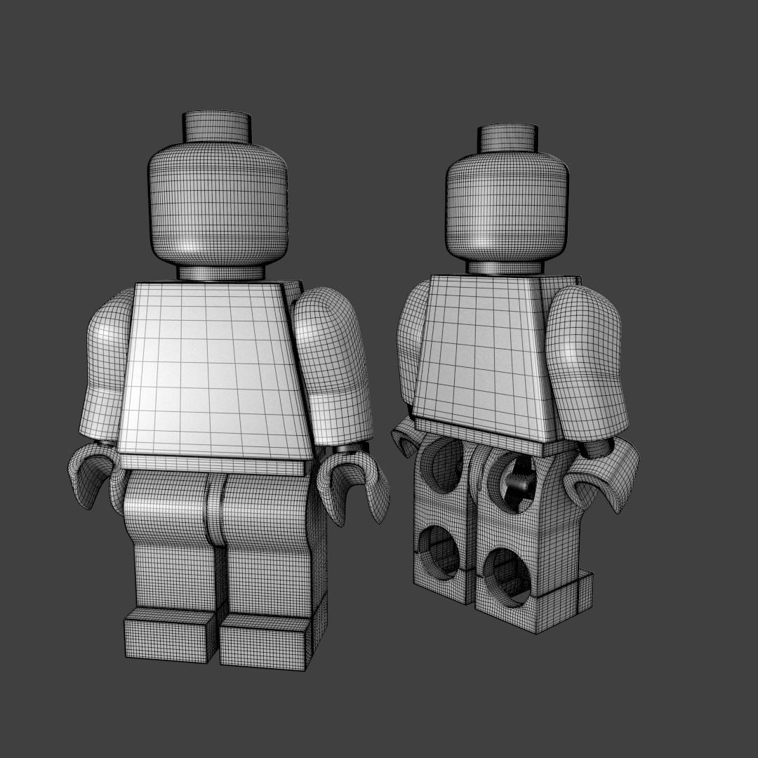 Lego Minifigure 3D Model .3ds .fbx .blend .dae - CGTrader.com
