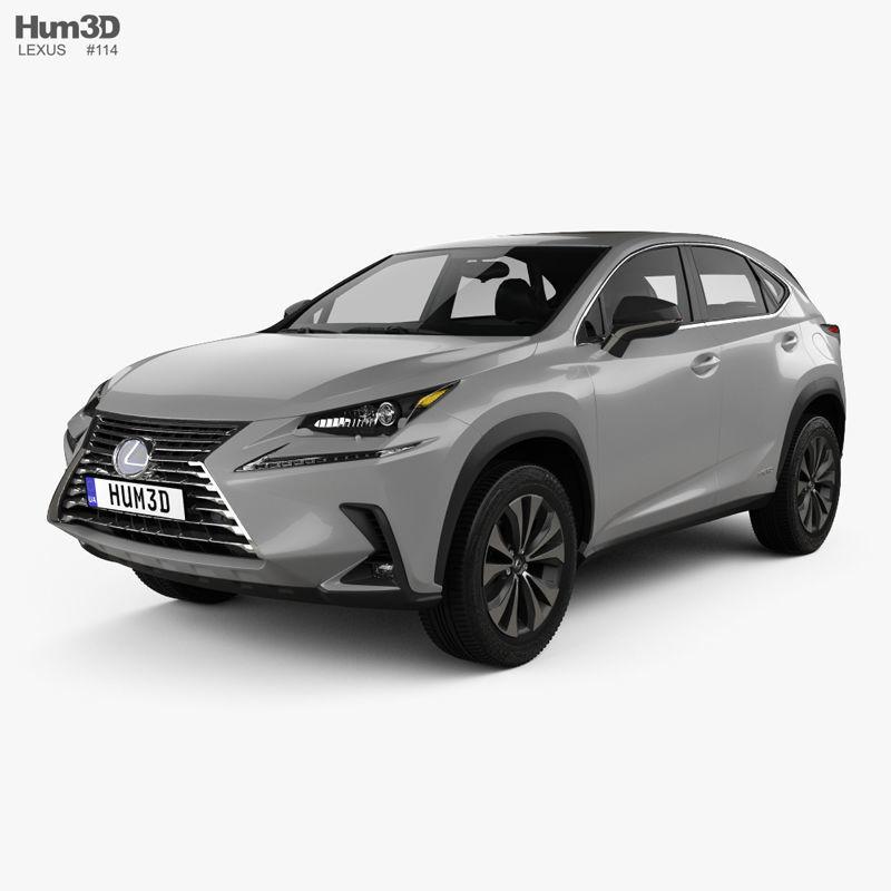 3d lexus nx us-spec hybrid 2020 | cgtrader