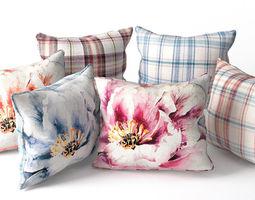 3D model Voyage Pillow Set - Piped Pillow Set