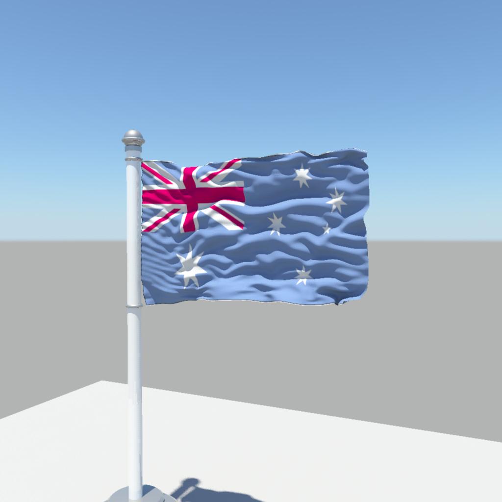 3d australia flag cgtrader