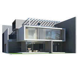 3D model Modern House residential