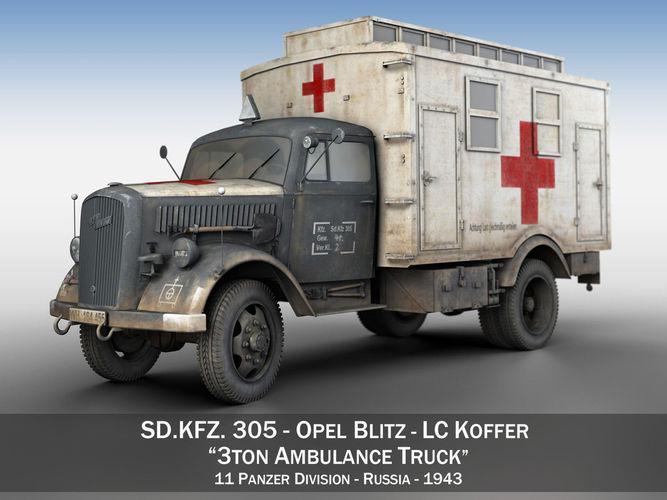 Opel Blitz - 3t Ambulance Truck - 11 PzDiv