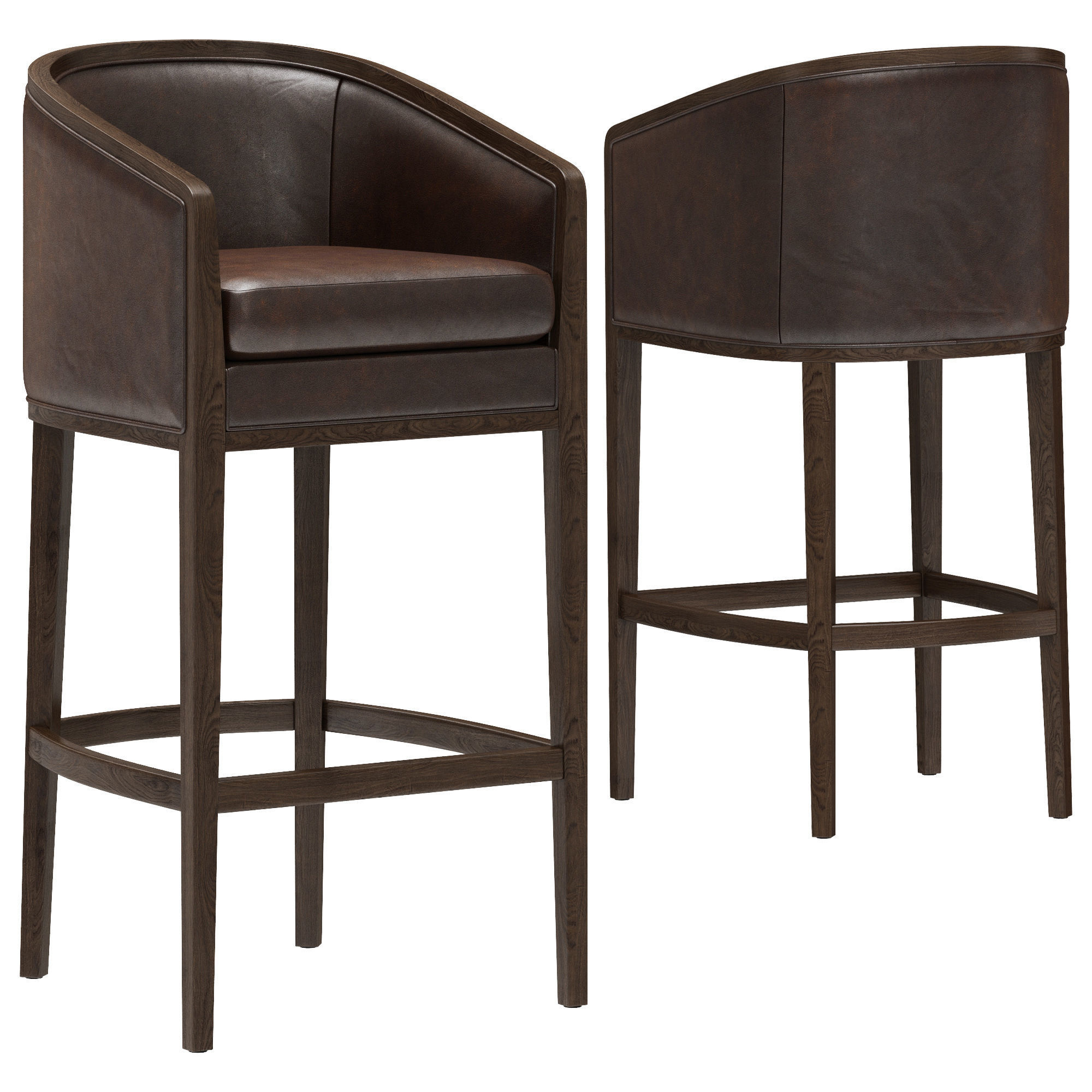 Restoration Hardware Dixon Leather Stool
