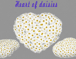 Heart of daisies 3D Model