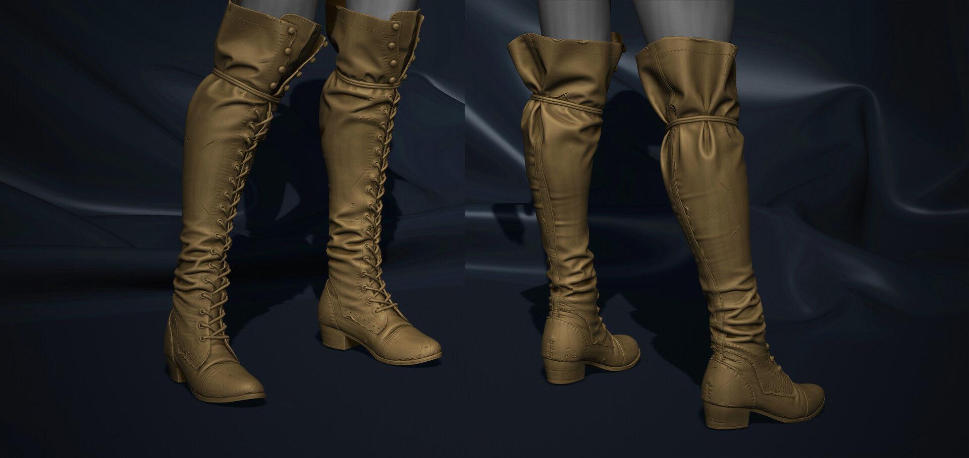 Super detailed vintage boots