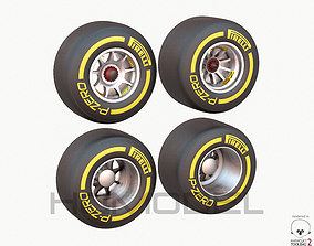 3D F1 Tire Formula Open Wheel