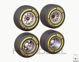 F1 Tire Formula Open Wheel 3D Model