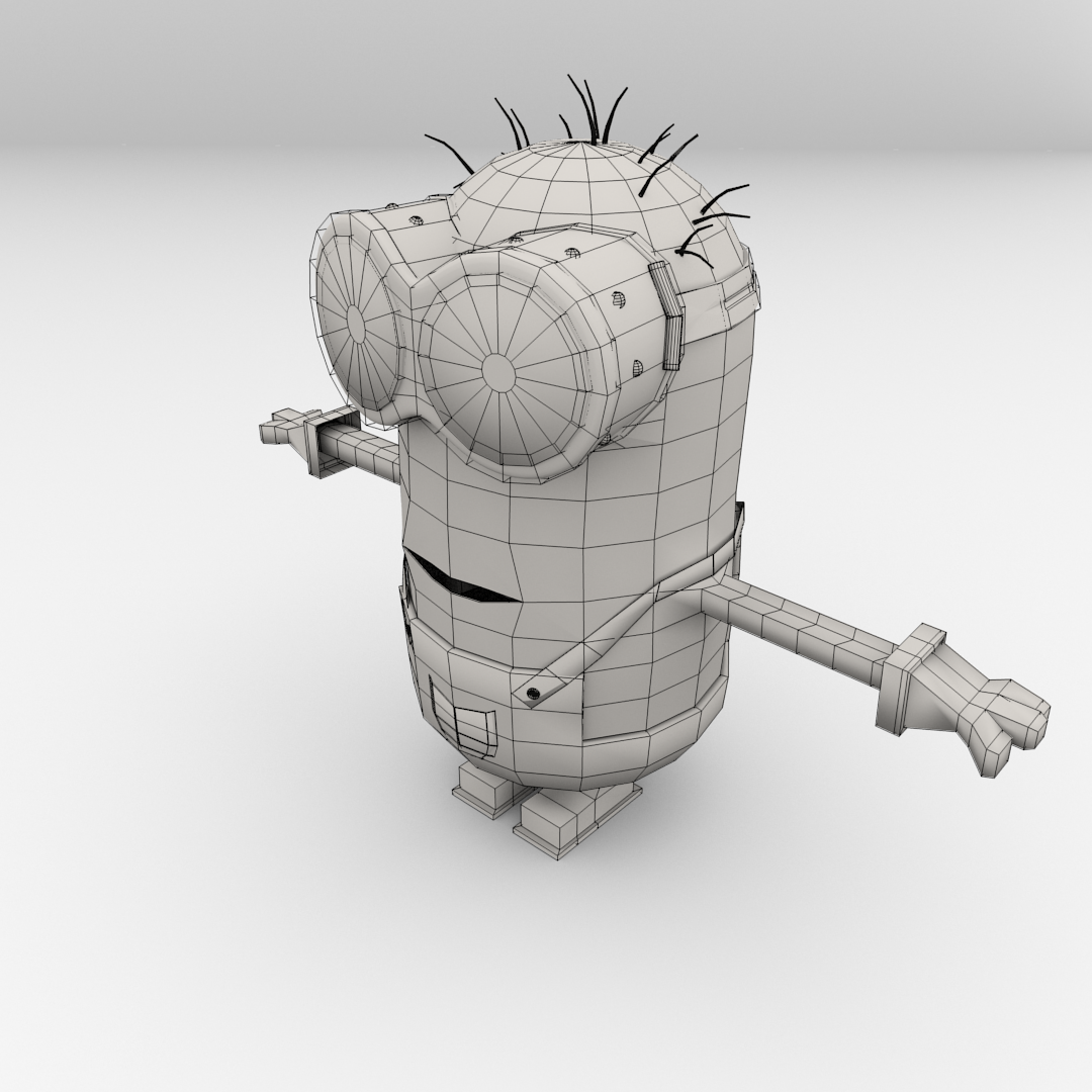 Minion 3D Model .3ds .fbx .blend .dae