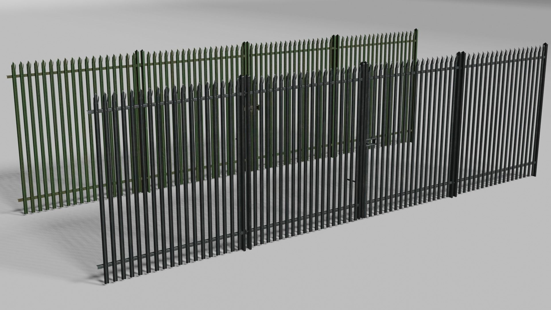 Low poly fence