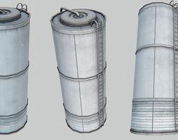 Silo 3D model low-poly