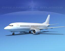 low-poly 3d model boeing 737-300 lp ss