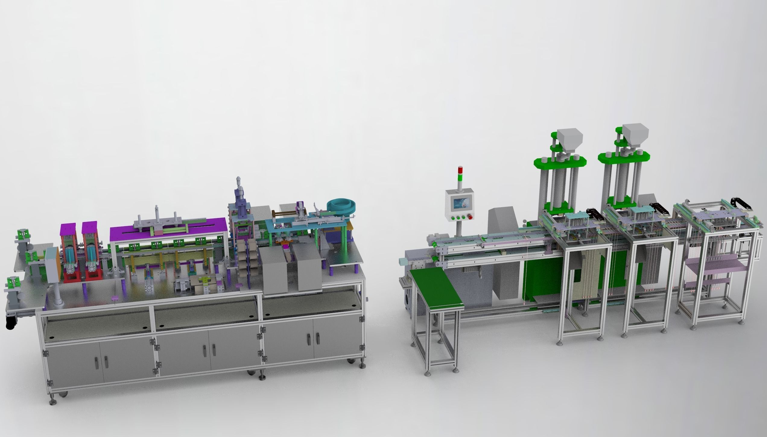 Usb cable production equipment