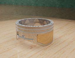 3D printable model ring piston