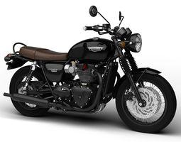 Triumph Bonneville T120 Black 2016 3D Model