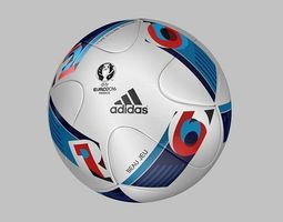 3d model official match ball euro 2016 - beau jeu  - france 2016
