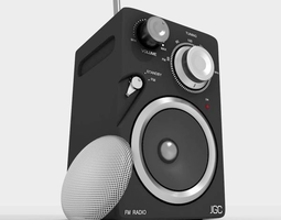 jgc radio rigged and animated 3d