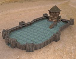 3D asset Castle Keep And Tower