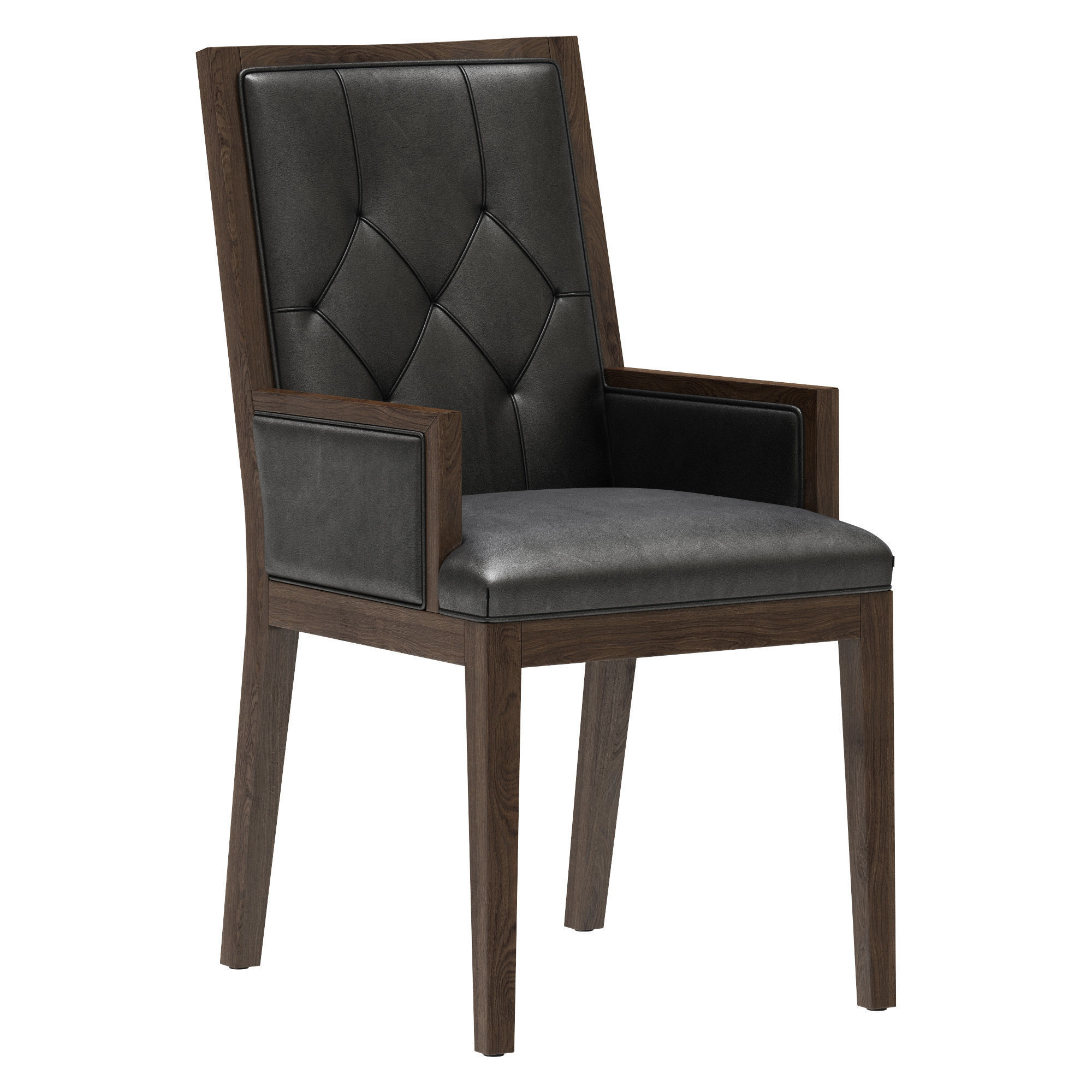 Restoration Hardware French Tufted Square Closed Armchair