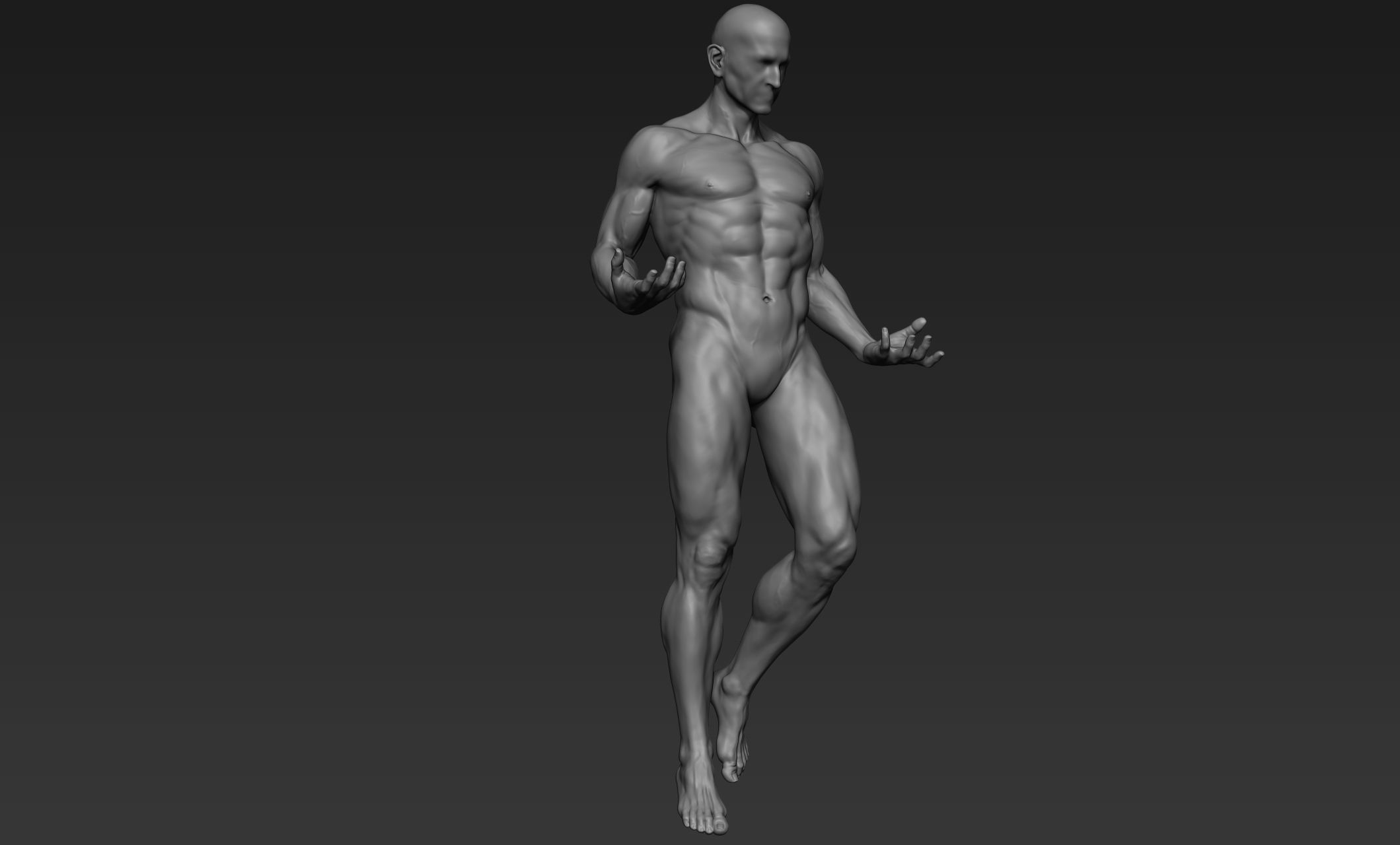 Male Full Body Sculpt Pose 1