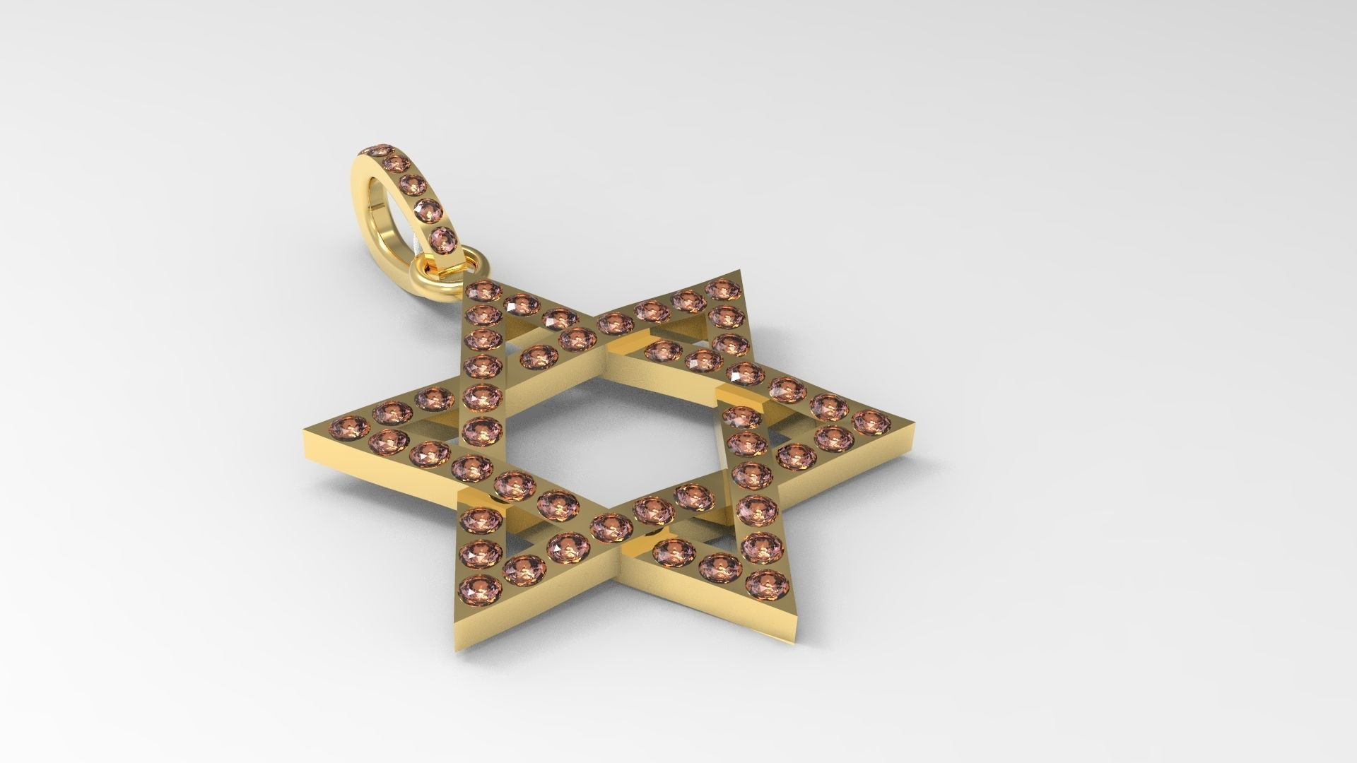 Star of David Pendant Jewish Symbol