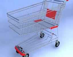 shopping cart 3d model max obj 3ds fbx