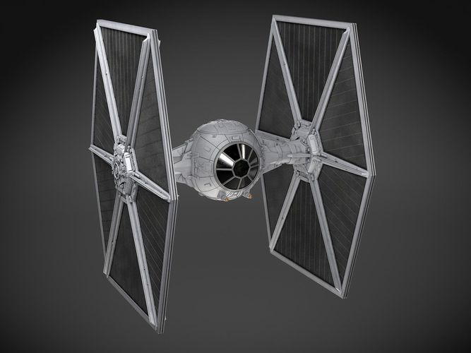star wars tie-fighter v1 3d model max obj mtl 3ds fbx c4d lwo lw lws 1