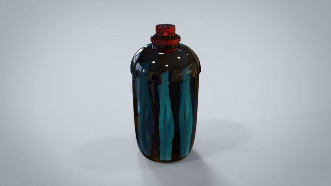 glass tube 3d model max 1