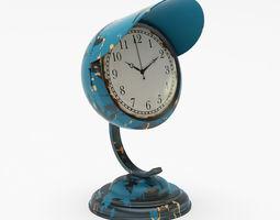 Kare Design Table Clock Scooter Light Blue 3D Model