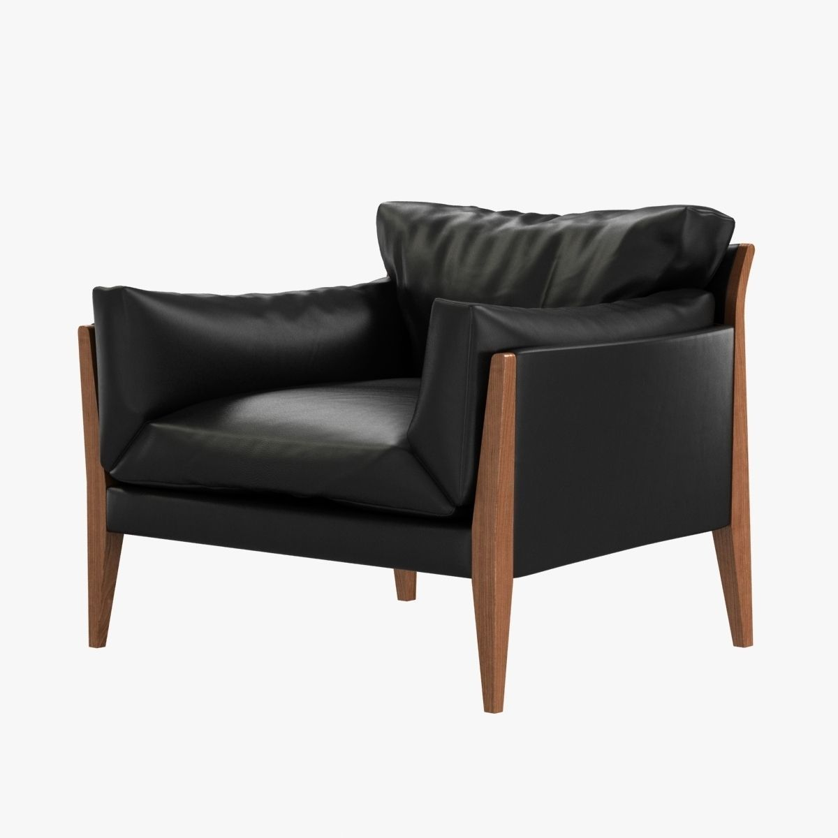 Diana Lounge Leather Chair By Ritzwell 3D Model