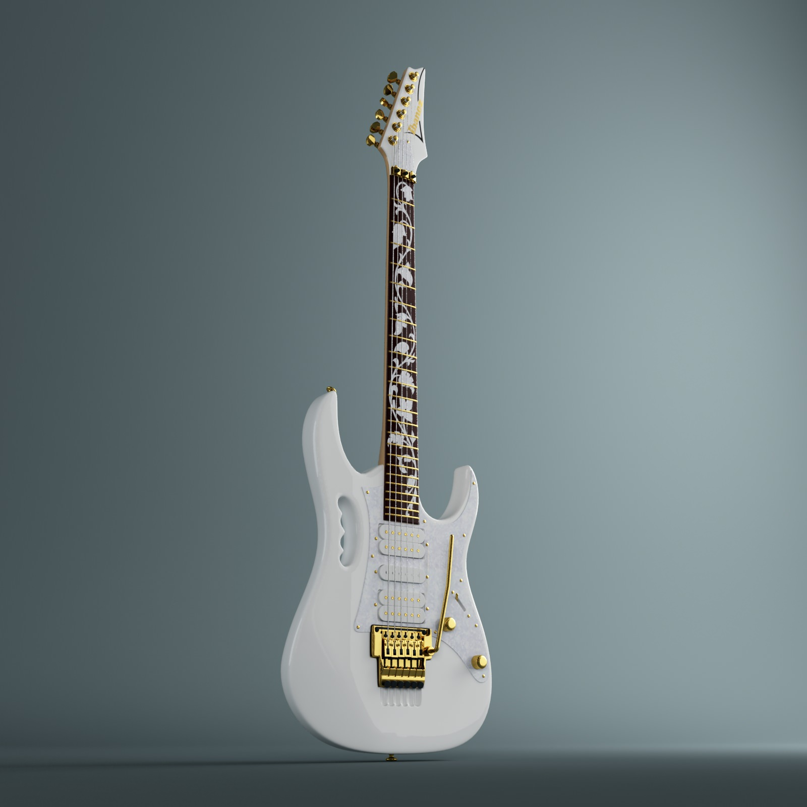 ibanez jem 7 steve vai electric guitar 3d models. Black Bedroom Furniture Sets. Home Design Ideas