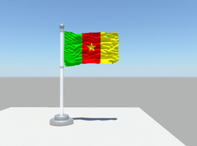 Cameroon flag3D model