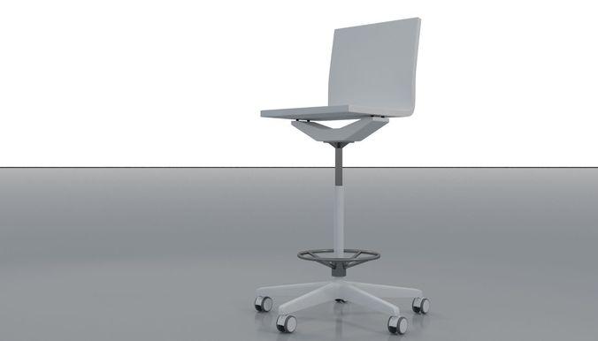 lab stool 3d model max obj mtl fbx 1