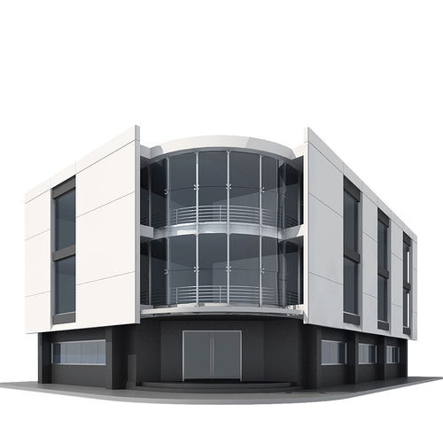 corner building 3d model max obj mtl 3ds dwg 1