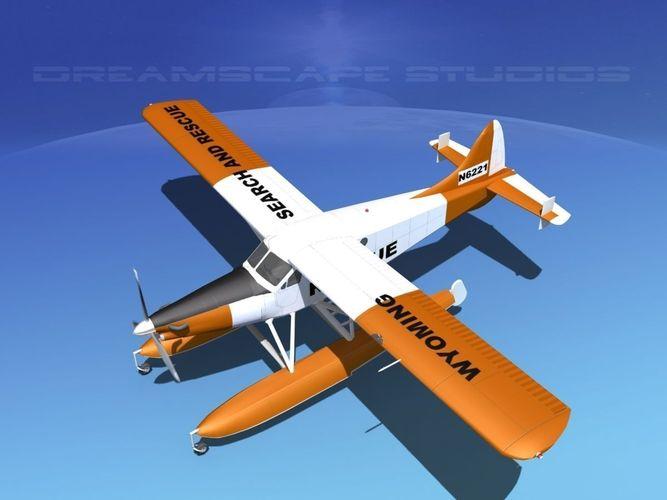 dehavilland dhc-2 turbo beaver v06 3d model animated max obj mtl 3ds fbx lwo lw lws dxf 1