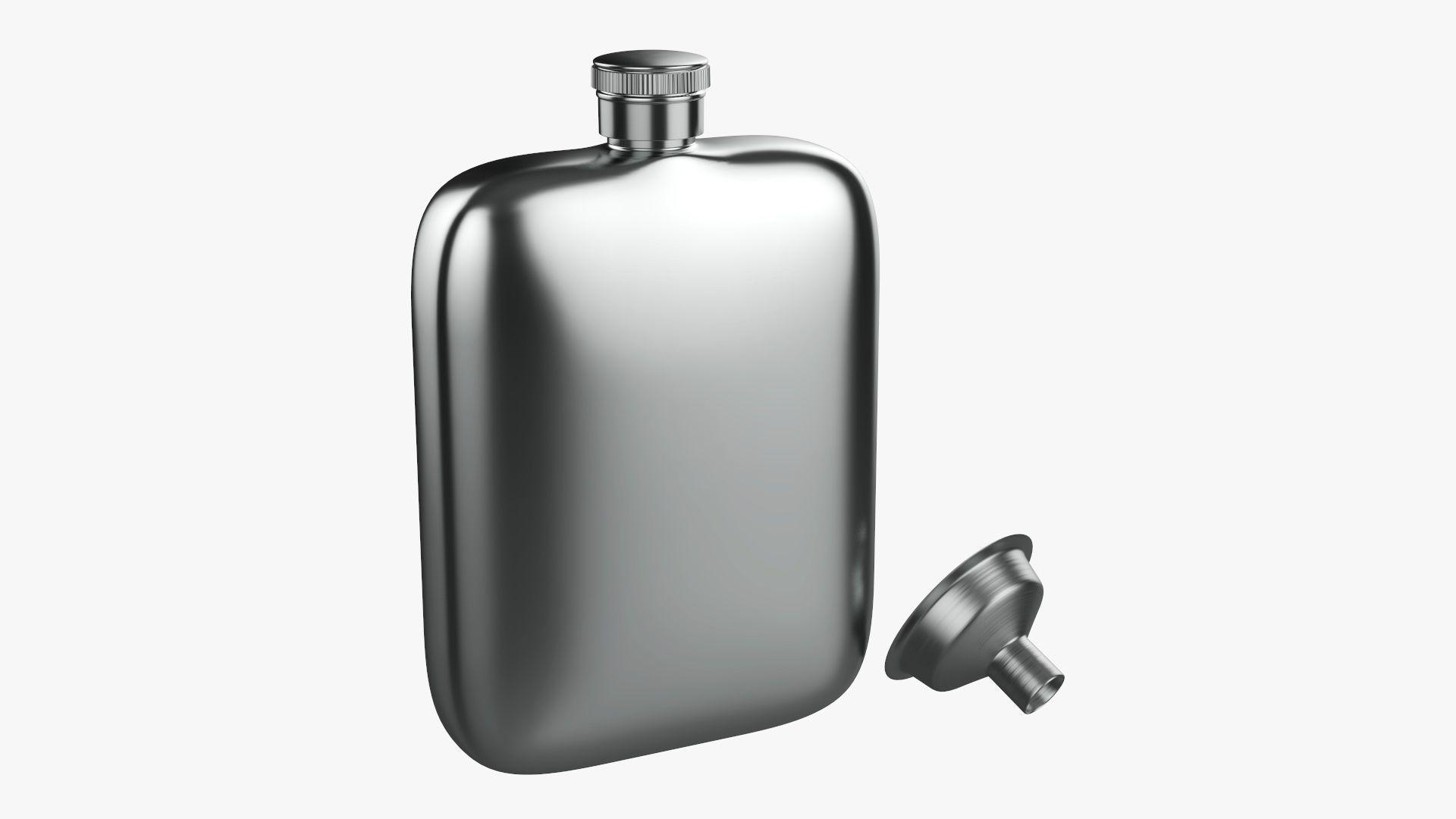 Liquor flask stainless steel 04