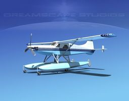 3D DeHavilland DHC-2 Turbo Beaver V20